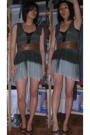 belt - dress - top