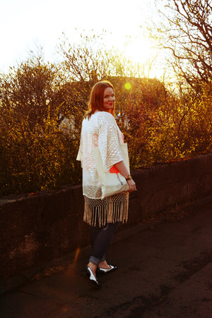 fringe Topshop jacket - Dorothy Perkins jeans - Topshop top