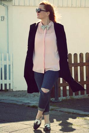 Topshop jeans - Vila jacket - Dorothy Perkins shirt - Bata loafers