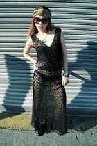 black ebay Hold My Gold dress - brown Forever 21 sunglasses - black Ebay bra