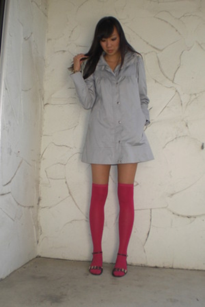 H&M coat - Urban Outfitters tights - forever 21 shoes