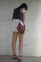 Gap vest - forever 21 dress - PedderRed shoes
