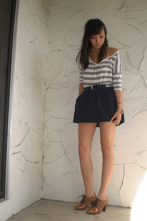 Uniqlo top - Erin Fetherston for Target skirt - random from Hong Kong shoes