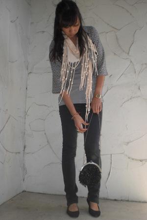 H&M scarf - Lux jacket - Ksubi jeans - vintage purse