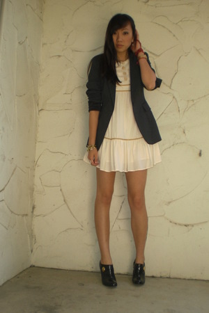 thrifted express blazer - Erin Fetherston for Target dress