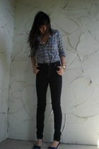 vintage shirt - Cheap Monday jeans - ziginy shoes
