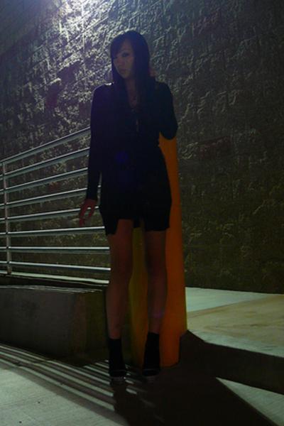 random cant remember from where - aa dress - Target socks - Jil Sander shoes