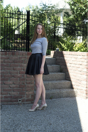 Urban Outfitters shirt - asos skirt - modcloth heels - JCrew earrings