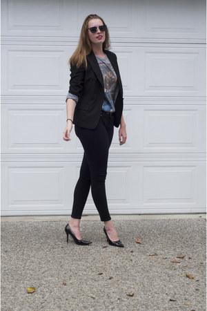 rolling stone t-shirt - Macys blazer - Urban Outfitters sunglasses