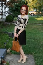 Forever 21 bracelet - thrifted vintage bag - Fioni heels - The Limited cardigan