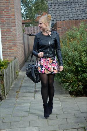 black Only jacket - pink H&M dress