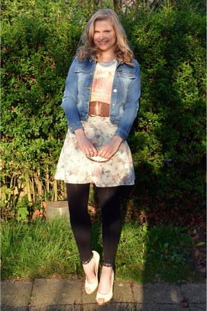 cream Springfield shirt - cream Springfield skirt