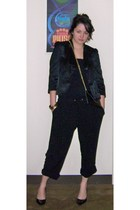 H&M blazer - Forever 21 - calvin klein shoes - JJ Winters purse - Forever 21 bra