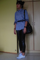 alain delon shirt - American Apparel - purse - shoes