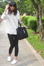 calvin klein shirt - American Apparel - River Island shoes - Ralph Lauren purse