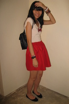 Topshop t-shirt - skirt - - purse - shoes