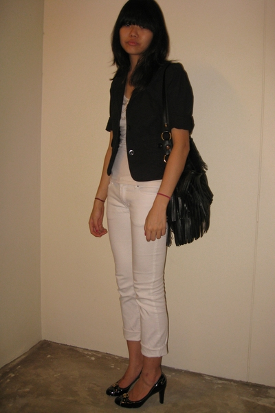 g2000 blazer - - Topshop t-shirt - jeans - Charles &amp; Keith shoes - diva necklace
