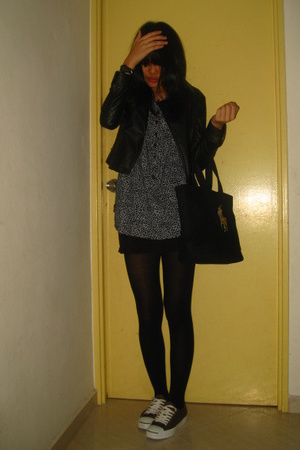 Dorothy Perkins jacket - dress - cotton on skirt - - Converse shoes - raphl laur