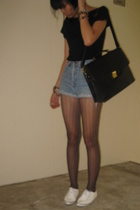 t-shirt - Armani Jeans shorts - forever 21 tights - shoes - -