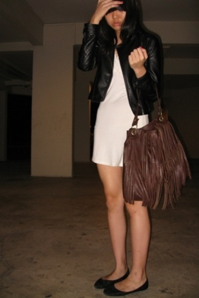 jacket - dress - purse