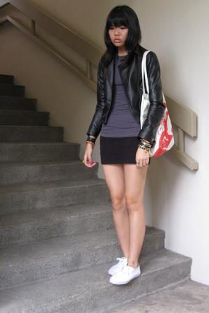 Dorothy Perkins jacket - forever 21 t-shirt - aa skirt - River Island shoes