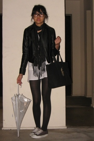 Dorothy Perkins jacket - scarf - shoes - Ralph Lauren purse - Topshop t-shirt -