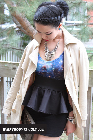Black-peplum-skirt