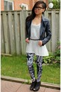 Navy-motel-rocks-jacket-black-black-milk-clothing-jumper-white-sheer-h-m-top