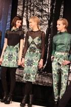 forest green Charlotte Ronson dress