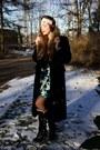 Black-buckles-aldo-boots-black-fur-coat-vintage-coat