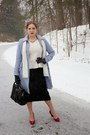 Periwinkle-dress-coat-lands-end-coat-white-sequined-express-scarf