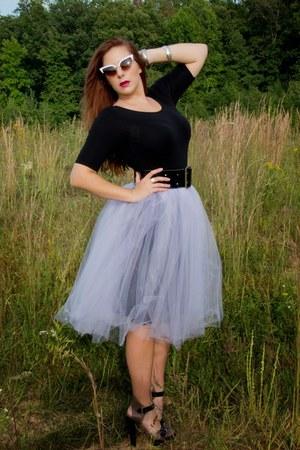 black lace skirt American Apparel skirt - light purple tulle skirt