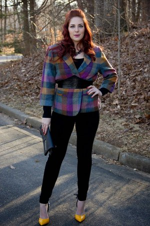black black rachel roy jeans - magenta Cabi blazer - black Danielle Nicole purse