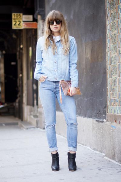 Monki jeans - Forever 21 jacket - GG&L bag - zeroUV sunglasses