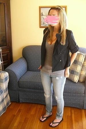 American Rag blazer - American Apparel t-shirt