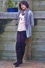 Gray-supre-cardigan-pink-lolitta-t-shirt-black-orbit