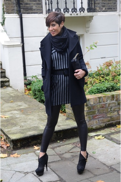Rachel Zoe shoes - Max &amp; Co dress - Guess coat - Topshop leggings