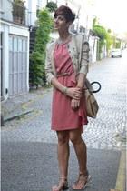 Zara dress - Guess blazer - calvin klein bag