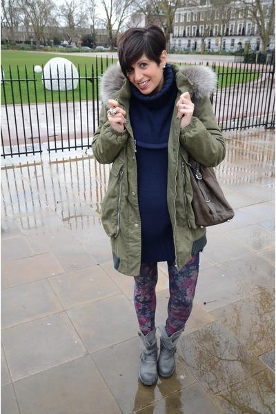 Violanti coat - Jeffrey Campbell boots - Calzedonia leggings