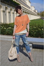 Guess jeans - beige Dixie dress - light orange Dixie sweater
