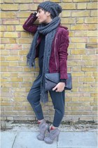 Mango jacket - Guess hat - Guess scarf - Zara bag - Pinko pants