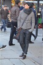 Rick Owens jacket - Guess jeans - calvin klein bag - Mr Wolf flats