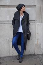 Helmut Lang coat - Zara boots - Guess jeans - ck bag - Zara t-shirt
