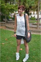 Topshop top - All Saints shorts - Cinzia Araia sneakers