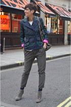 Guess blazer - Guess boots - Monocrom pants