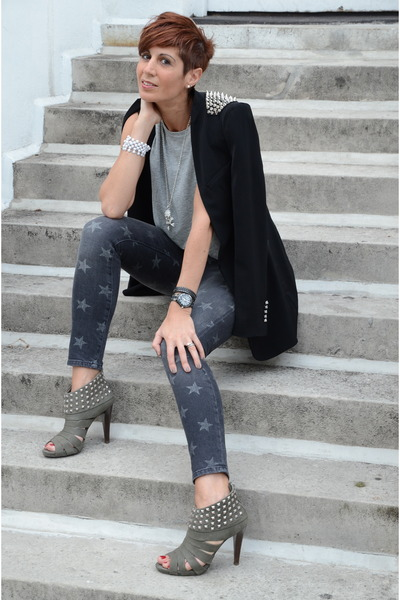 Zara blazer - Current Elliott jeans - ASH heels