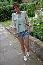 Zara blazer - marsell shoes - abercrombie and fitch shorts - Zara top