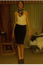 H&M shirt - scarf - skirt - Enzo Angiolini shoes - H&M jacket