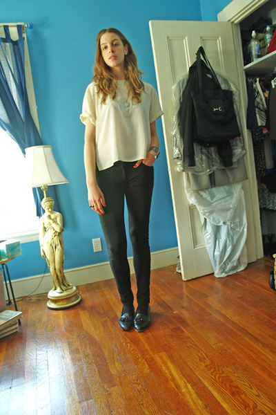 blouse - H&M pants - Stanley Blacker shoes