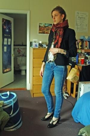 ann taylor blazer - banana republic blouse - old navy circa 2005 jeans - H&M soc